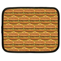 Delicious Burger Pattern Netbook Case (large) by berwies