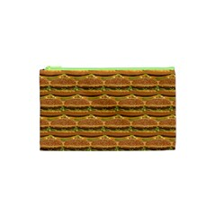 Delicious Burger Pattern Cosmetic Bag (xs) by berwies