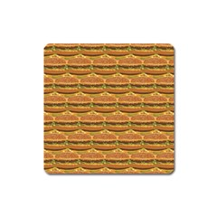 Delicious Burger Pattern Square Magnet by berwies