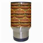 Delicious Burger Pattern Travel Mugs (White) Center