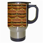 Delicious Burger Pattern Travel Mugs (White) Right