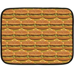 Delicious Burger Pattern Double Sided Fleece Blanket (mini)  by berwies