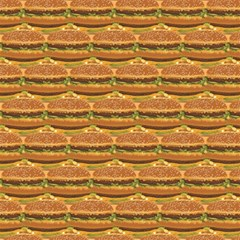 Delicious Burger Pattern Magic Photo Cubes by berwies