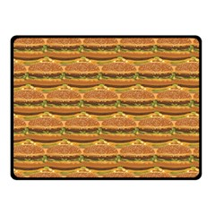 Delicious Burger Pattern Double Sided Fleece Blanket (small)  by berwies