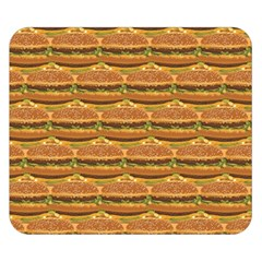 Delicious Burger Pattern Double Sided Flano Blanket (small)
