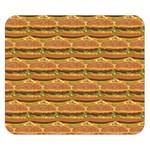 Delicious Burger Pattern Double Sided Flano Blanket (Small)  50 x40 Blanket Back