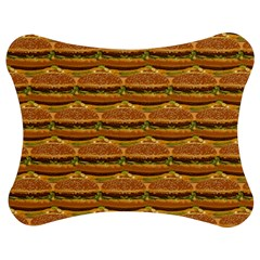 Delicious Burger Pattern Jigsaw Puzzle Photo Stand (bow) by berwies