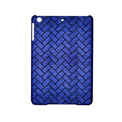 Brick2 Black Marble & Blue Brushed Metal (r) Apple Ipad Mini 2 Hardshell Case by trendistuff