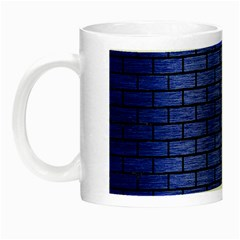 Brick1 Black Marble & Blue Brushed Metal (r) Night Luminous Mug by trendistuff