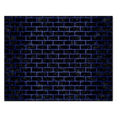 Brick1 Black Marble & Blue Brushed Metal Jigsaw Puzzle (rectangular) by trendistuff