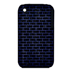 Brick1 Black Marble & Blue Brushed Metal Apple Iphone 3g/3gs Hardshell Case (pc+silicone) by trendistuff