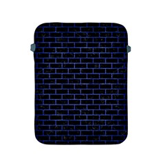 Brick1 Black Marble & Blue Brushed Metal Apple Ipad 2/3/4 Protective Soft Case by trendistuff