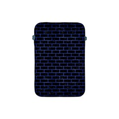 Brick1 Black Marble & Blue Brushed Metal Apple Ipad Mini Protective Soft Case by trendistuff