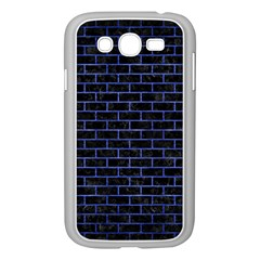 Brick1 Black Marble & Blue Brushed Metal Samsung Galaxy Grand Duos I9082 Case (white) by trendistuff