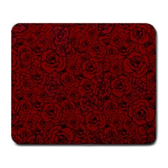 Red Roses Field Large Mousepads by designworld65