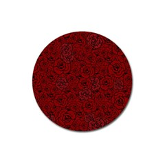 Red Roses Field Magnet 3  (round) by designworld65