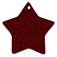 Red Roses Field Star Ornament (two Sides)