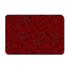 Red Roses Field Small Doormat