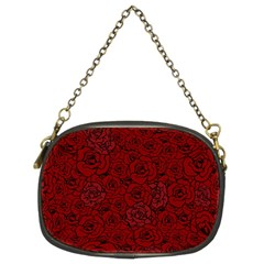 Red Roses Field Chain Purses (two Sides)  by designworld65