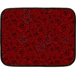 Red Roses Field Double Sided Fleece Blanket (Mini)  35 x27 Blanket Front