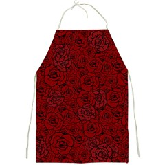 Red Roses Field Full Print Aprons by designworld65