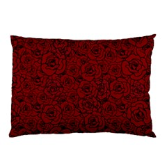 Red Roses Field Pillow Case (two Sides)