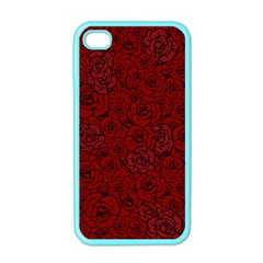 Red Roses Field Apple Iphone 4 Case (color) by designworld65