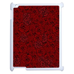 Red Roses Field Apple Ipad 2 Case (white) by designworld65