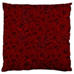 Red Roses Field Large Cushion Case (Two Sides) Back