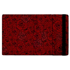 Red Roses Field Apple Ipad 2 Flip Case by designworld65