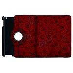 Red Roses Field Apple iPad 2 Flip 360 Case Front