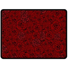 Red Roses Field Double Sided Fleece Blanket (large)  by designworld65