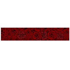 Red Roses Field Flano Scarf (large)