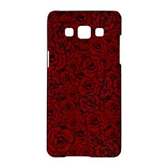 Red Roses Field Samsung Galaxy A5 Hardshell Case  by designworld65