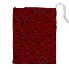 Red Roses Field Drawstring Pouches (xxl)
