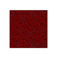 Red Roses Field Satin Bandana Scarf by designworld65