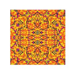 Colorful Vibrant Ornate Small Satin Scarf (square) by dflcprintsclothing