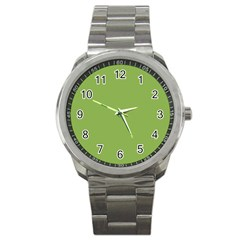 Trendy Basics   Trend Color Greenery Sport Metal Watch by tarastyle