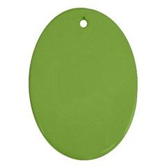 Trendy Basics   Trend Color Greenery Oval Ornament (two Sides) by tarastyle