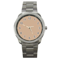 Trendy Basics   Trend Color Hazelnut Sport Metal Watch by tarastyle