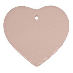 Trendy Basics - Trend Color Pale Dogwood Ornament (heart) by tarastyle