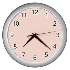 Trendy Basics   Trend Color Pale Dogwood Wall Clocks (silver)  by tarastyle