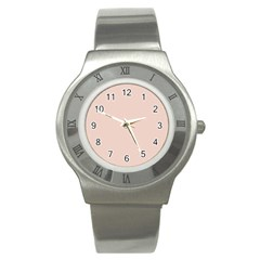 Trendy Basics   Trend Color Pale Dogwood Stainless Steel Watch by tarastyle