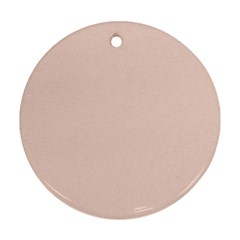 Trendy Basics   Trend Color Pale Dogwood Round Ornament (two Sides) by tarastyle