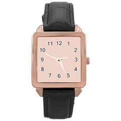 Trendy Basics   Trend Color Pale Dogwood Rose Gold Leather Watch  by tarastyle
