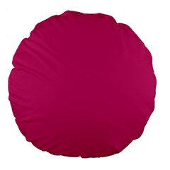 Trendy Basics   Trend Color Pink Yarrow Large 18  Premium Flano Round Cushions by tarastyle