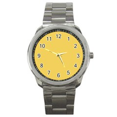 Trendy Basics   Trend Color Primerose Yellow Sport Metal Watch by tarastyle