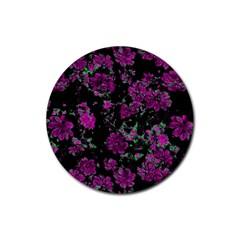 Floral Dreams 12 A Rubber Coaster (round)  by MoreColorsinLife
