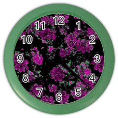 Floral Dreams 12 A Color Wall Clocks by MoreColorsinLife