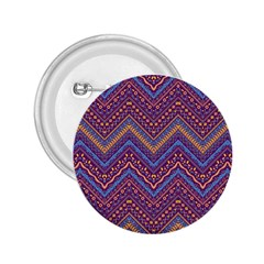 Colorful Ethnic Background With Zig Zag Pattern Design 2 25  Buttons by TastefulDesigns